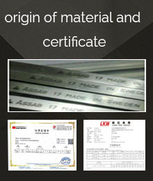 origin of material and certificate